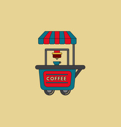 Coffee shop cart vector