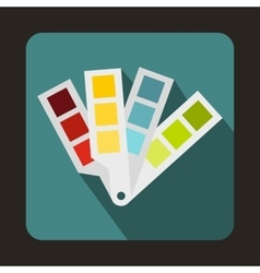 Color palette guide icon flat style vector image