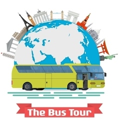 conceptual - The Bus Tour of vector image