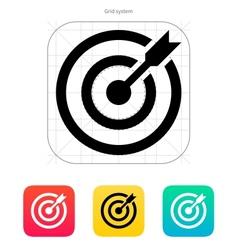 Darts target aim icon successful shoot vector