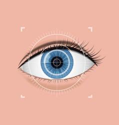 digital scanning of the retina vector image
