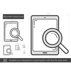 Document search line icon vector