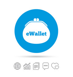 Ewallet sign icon electronic wallet symbol vector