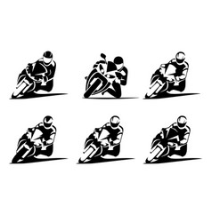 extreme motorbike rider set vector image vector image