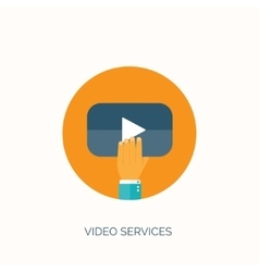 Flat video hosting online vector