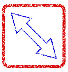 Flip diagonal grunge framed icon vector