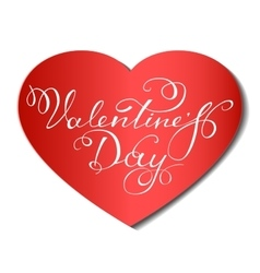 Happy Valentine s Day lettering vector image vector image
