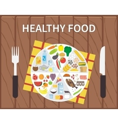 Healthy food infographic lifestyle concept with vector