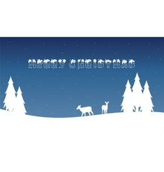Landscape of merry christmas winter vector