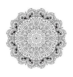 Mandala doodle round ornament ethnic motives vector