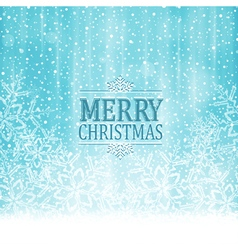 Merry Christmas typography winter vector image