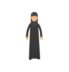 muslim woman in national arabic costume cartoon vector image