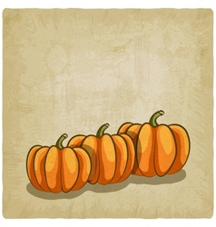 old background with pumpkins vector image vector image