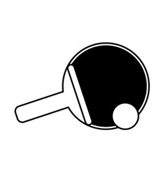 Ping pong paddle sport icon image vector