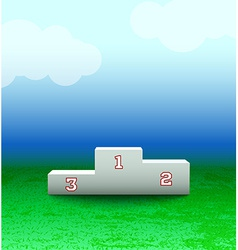 Podium with numbers on the field vector image