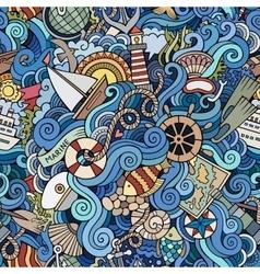 Seamless pattern sealife and marine vector