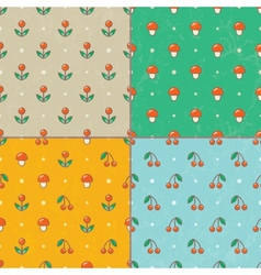 Set of seamless baby patterns EPS10 vector image vector image