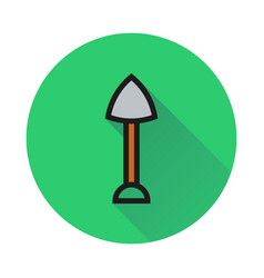 Shovel icon on white background vector