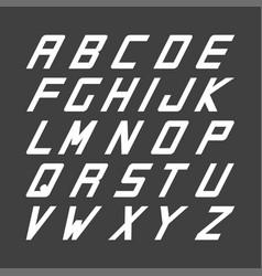sport font english simple alphabet vector image vector image