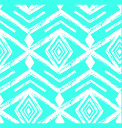 Tiffany blue colored tribal navajo seamless vector