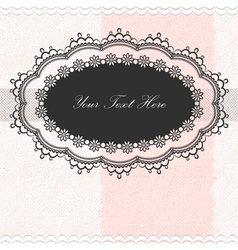 Vintage frame on textured background vector image
