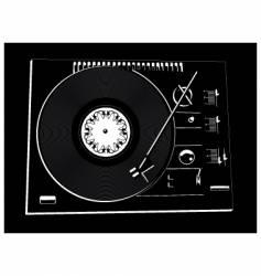 vinyl deck vector image vector image