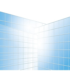 Wall of buildings - blue windows vector