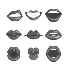 Woman lips silhouette vector