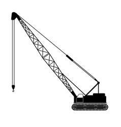 Backhoe crane vector