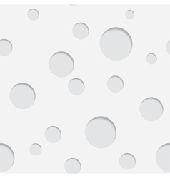 Paper Circle Pattern with Drop Shadows vector image