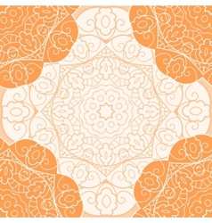 Orange lace seamless pattern vector image