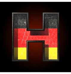 Germany cutted figure h vector