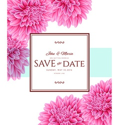 Template card Save the Date vector image
