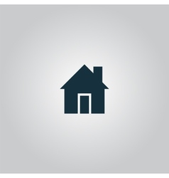 Retro style home icon isolated vector