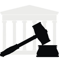 gavel and court vector image