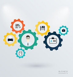 Business mechanism concept vector image
