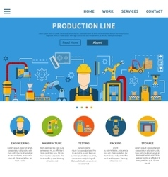 Production line page vector