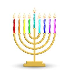 Hanukkah lamp vector image