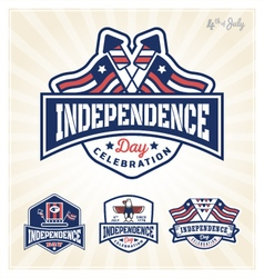 Independence day celebration badge vector
