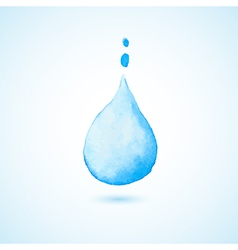 Background with blue drop vector