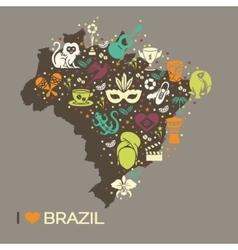 Brazilian thematic print 6 vector