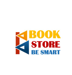 Colorful sign for book market vector