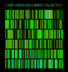 Dark green gradients collection glowing patterns vector