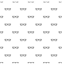 eye glasses pattern vector image