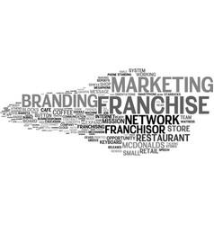 Franchise word cloud concept vector