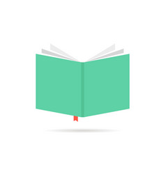 green book icon with bookmark vector image