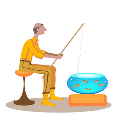 Lazy fishing vector