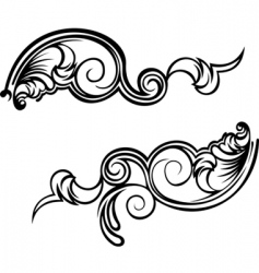 ornate curves vector image vector image