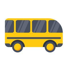 school bus icon vector image vector image