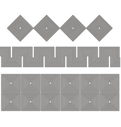 set pattern graphic lines vector image